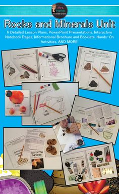 Rocks and minerals unit fun, engaging & hands-on lessons) . Science Lesson Plans, Science Lessons, Science Ideas, Education Quotes For Teachers, Teacher Resources, Teaching Ideas, Ontario Curriculum, Rock Cycle, Learning Goals