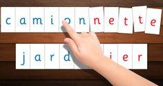 Lettres mobiles de Montessori imprimables. Printable Montessori moveable lettrers