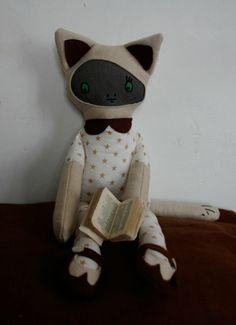 Edouard le Chat © Miss Plush Plush  www.missplushplush.com  #doll, #plush