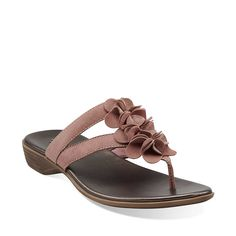 b29106e6b6e Dusk Rio in Rose Leather - Womens Sandals from Clarks