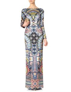 Grey Satin Merida Fitted Dress | Temperley London | Avenue32