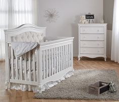 The Pali Diamante collection is one of Pali's newest collections. It was introduced recently and features beautiful furniture pieces designed to complete your baby nursery. Made with elegant lines and craftsmanship, the Diamante collection Tufted Crib, Baby Cinderella, Moses Basket, Convertible Crib, Girl Nursery, Nursery Sets, Baby Bedroom, Baby Furniture, Furniture Collection