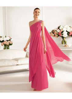 One Shoulder Ruching Floor Length Bridesmaid Dresses WE0036