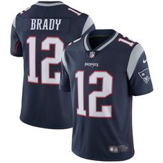 69aee8baea9 Men's New England Patriots #12 Tom Brady Nike Navy Vapor Untouchable  Limited Player Jersey