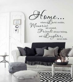 Muursticker Home, Love, Memories