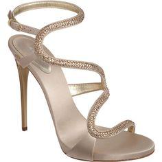 Giuseppe Zanotti Jewel-Embellished Sandal found on Polyvore  #heels #fashion #Guiseppe Zanotti