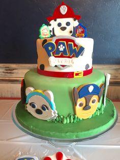 Paw patrol birthday cake by Courtney's confections of Oklahoma #cake @courtneysconfectionsok