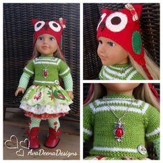 Christmas owl complete  outfit  clothes for 18 inch doll - american girl doll  | eBay