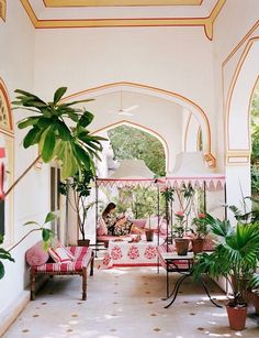As Architectural Digest morphs into AD, the magazine takes on a fresh chic new look. Architectural Digest, Bar Piscina, Outdoor Rooms, Outdoor Living, Espace Design, Indian Interiors, Hotel Apartment, Apartment Entrance, Interior Exterior