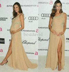 2013 Customized Alessandra Ambrosio Maternity Celebrity Evening Dresses Chiffon One Shoulder Sheath Beaded Ruched Front Slit Floor Length Little Black Dress Red Dress From Bestdavid, $101.18| Dhgate.Com