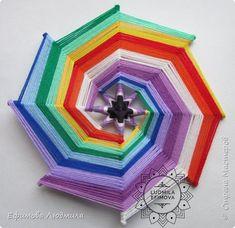 Crochet Mandala, Mandala Art, Hobbies And Crafts, Diy And Crafts, God's Eye Craft, Diy Dream Catcher Tutorial, Crochet Wall Hangings, Xmax, Gods Eye