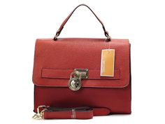 Michael Kors Red Medium Top-Handle Tote Shoulder Bag