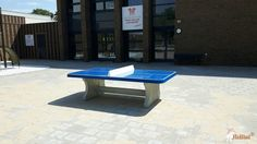 Pingpongtafel Afgerond Blauw bij Prins Willem Alexanderschool in Barneveld
