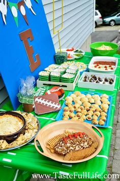 Football Themed Birthday Party or Super Bowl party ideas!