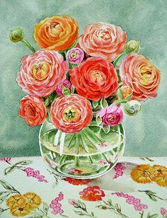 Flowers in the Glass Vase' by Irina Sztukowski - http://irina-sztukowski.artistwebsites.com/featured/flowers-in-the-glass-vase-irina-sztukowski.html