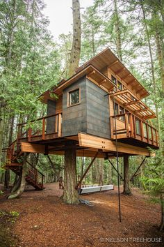 Daryl designed this ELEGANT treehouse on the san Juan Islands