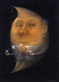 Cresent Moon by UK illustrator, Wayne Anderson