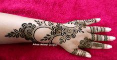 New Henna Designs, Simple Arabic Mehndi Designs, Mehndi Designs For Hands, Henna Tattoo Designs, Simple Designs, Mehndi Design Photos, Mehndi Images, Mehndi Patterns, Flower Patterns