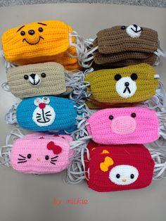 Crochet Mask, Crochet Faces, Crochet Gifts, Knit Crochet, Crochet Stitches, Crochet Patterns, Cross Stitch Baby, Diy Mask, Crochet Fashion