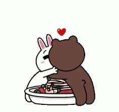 The perfect BrownAndCony Spaghetti Love Animated GIF for your conversation. Discover and Share the best GIFs on Tenor. Cute Couple Cartoon, Cute Couple Art, Cute Love Cartoons, Cute Cartoon, Cute Love Pictures, Cute Love Gif, Calin Gif, Kiss Animated Gif, Bear Gif