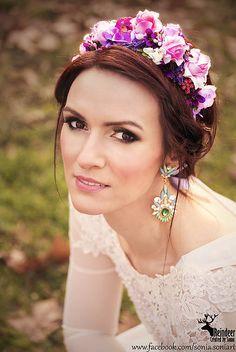 Sohemi_art / Mini parta beautiful lady Flower Headbands, Ale, Beautiful Women, Mini, Flowers, Handmade, Hand Made, Ale Beer, Beauty Women