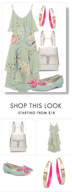 """""""Stress-free Fancy Look"""" by dundiddit ❤ liked on Polyvore featuring Rebecca Minkoff, Temperley London, Sophia Webster, Design Lab and chicflats"""