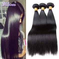 8A Grado Bruto brasileño de la Virgen Del Pelo Recto 3 Bundles Trato Gracia Hair Products brasileño de la Virgen Del Pelo Armadura Del Pelo Humano