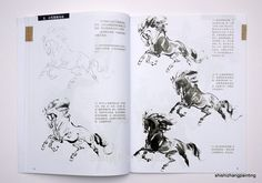 Aliexpress book on horses Chinese Brush, Gesture Drawing, Horse Drawings, Painted Books, Ink Illustrations, Chinese Painting, Horse Art, Learn To Paint, Asian Art