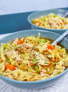 This Cajun Chicken Noodle Soup is everything you love about the classic chicken noodle soup with the perfect amount of Cajun flavor.