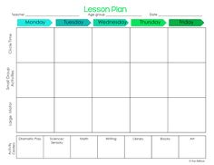 Lesson Plan Template  Kindergarten Lesson Plan Templates And