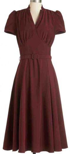 1940s style dress at VintageDancer com