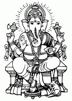 Best Coloring: Ganesha clip art coloring pages - Amazing Coloring sheets - Pintura Ganesha, Arte Ganesha, Ganesha Sketch, Ganesha Drawing, Lord Ganesha Paintings, Ganesha Tattoo, Art Drawings For Kids, Outline Drawings, Outline Images