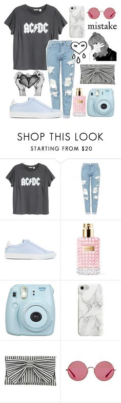 """""""apologies💫"""" by corgi-lover13 ❤ liked on Polyvore featuring H&M, Topshop, Givenchy, Valentino, Fujifilm, Recover, Inge Christopher and Ray-Ban"""