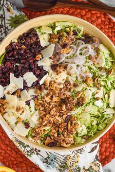 This Brussel Sprout Salad is such an easy side dish recipe. Easy enough for weeknight dinners, but fancy enough for holidays, this shaved brussel sprout salad will become a family favorite. Shaved Brussel Sprout Salad, Baked Brussel Sprouts, Shredded Brussel Sprouts, Sprouts Salad, Brussels Sprouts, Side Dishes Easy, Side Dish Recipes, Sangria Recipes, Salad Recipes