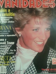 Vanidades (Spanish) Jul 9, 1991 Princess Diana cover/article/celebrity/ads