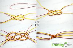 Complete the Carrick Bend for easy knot friendship bracelet