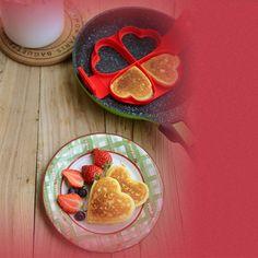 Newest! Heart-Shaped Pancake Mold Nonstick Silicone Easement Baking Waffle Cake  #HeartShapedChina