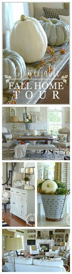 FALL HOME TOUR-Lots of ideas and inspiration for a fall-filled home!-stonegableblog.com