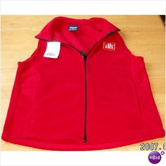 Home Hardware Company Red zippered Vest by York Uniforms Size Small S NWT 625065205728 on eBid Canada