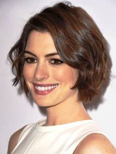 Contemporary Wavy Bob- Short wavy hairstyles for girls                                                                                                                                                     More