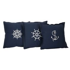 nautical themed pillows --embroider or screen print.