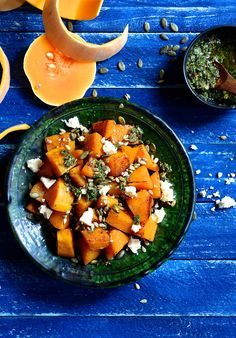 Roasted butternut and chimmichurri