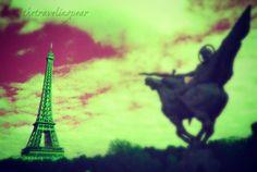 la tour eiffel on a winged horse