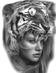 Tiger Frau - Tiger Frau You are in the right place about Tiger Frau Tattoo Design And Style Galleries On The Net - Indian Tattoo Design, Aztec Tattoo Designs, Leg Tattoos, Girl Tattoos, Sleeve Tattoos, Tiger Tattoo, Lion Tattoo, Headdress Tattoo, Girl Face Tattoo