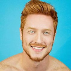 Ginger Man of the Day Hot Redhead Men, Hot Ginger Men, Ginger Guys, Red Hair Men, Ginger Head, Handsome Faces, Man Bun, Moustaches, Hair And Beard Styles