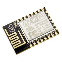 The ESP8266 ESP-12-Q (ESP-12-e series) module has castellated vias to allow for easy soldering directly to a circuit board (PCB). The module is capable of connecting to a WiFi router or access point and can even serve as a WiFi access point itself.