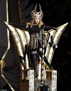 Egyptian queen meets Roman gladiator: Madonna's Givenchy Couture look for the half-time performance at the 2012 American Superbowl