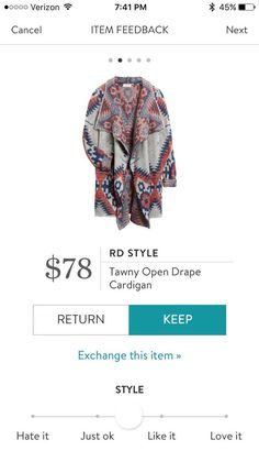 Sometimes, I skew boho and would for this sweater...