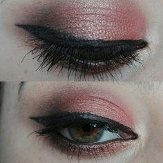 Orange makeup look