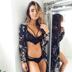 Lace Bralette Bras Sexy Bustier Crop Top 2016 Cropped
